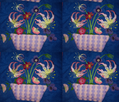 Floral Basket 2 fabric by susiesunshine on Spoonflower - custom fabric