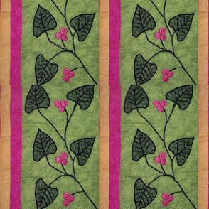 Embroidered leaves