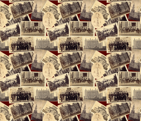 Victorian College Photos fabric by poshcrustycouture on Spoonflower - custom fabric