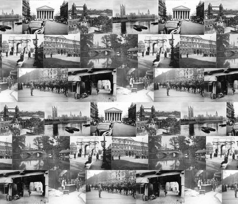 London Paris Berlin 1939 fabric by poshcrustycouture on Spoonflower - custom fabric