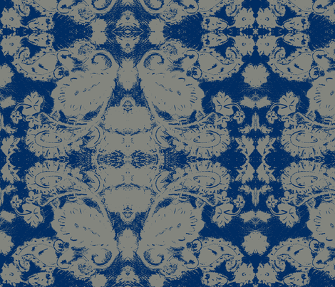 magic carpet blueprint fabric by withonethread on Spoonflower - custom fabric