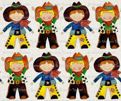 little cowboys natural linen