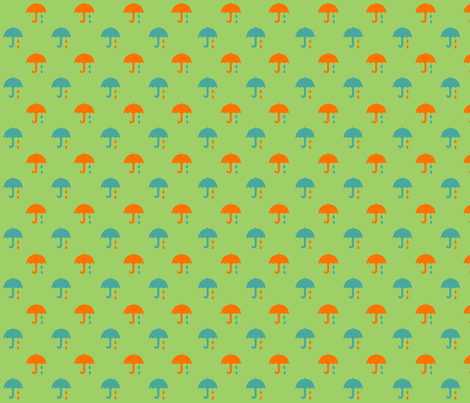 paraplyer green fabric by snork on Spoonflower - custom fabric