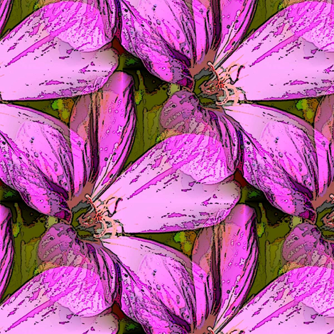 Cranesbill pink fabric by vib on Spoonflower - custom fabric