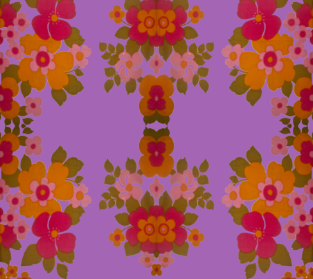 old_flowers_purple fabric by snork on Spoonflower - custom fabric