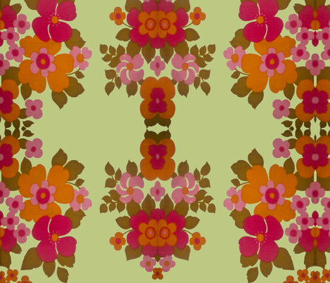 old_flowers_green fabric by snork on Spoonflower - custom fabric