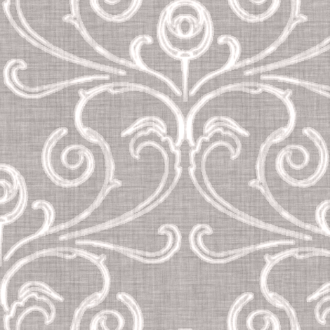 Custom - Faded French Rose - Silver Grey fabric by kristopherk on Spoonflower - custom fabric