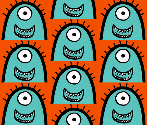 Bjorn the Monster fabric by discodog01 on Spoonflower - custom fabric