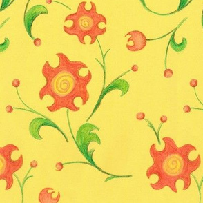 crayon_floral_yellow_7inWide_150dpi