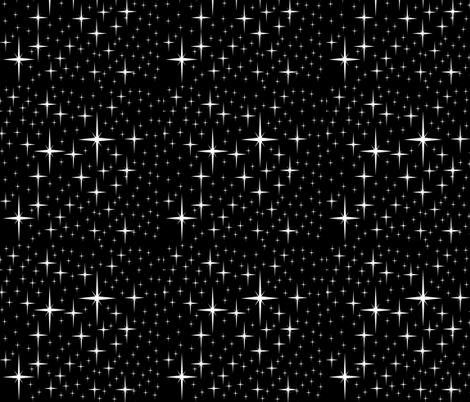 Starry sky black fabric drbadjen spoonflower for Starry sky fabric