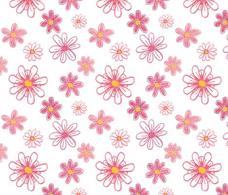 Girlie Flowers fabric by jenimp on Spoonflower - custom fabric