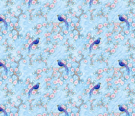 Cherry Blossom Song fabric by mytinystar on Spoonflower - custom fabric