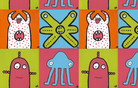 Monsters! fabric by discodog01 on Spoonflower - custom fabric