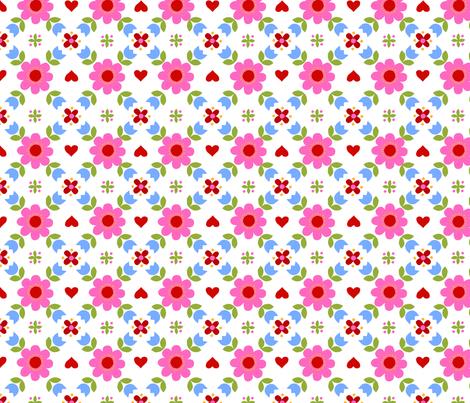 Retropattern pink fabric by katharinahirsch on Spoonflower - custom fabric