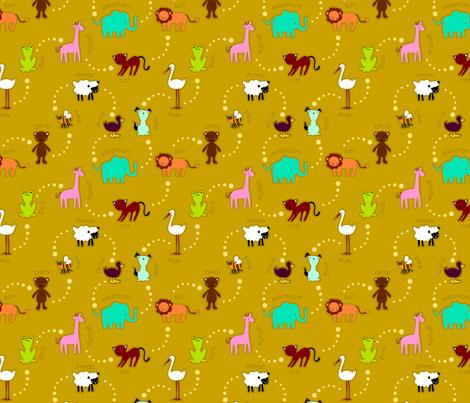 zoo_en_knit fabric by renule on Spoonflower - custom fabric