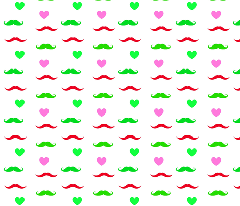 mustache party fabric by francescalyn on Spoonflower - custom fabric