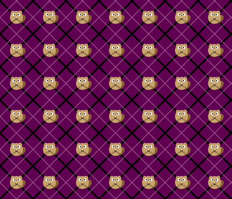 Angry Knitting Beaver fabric by lindsay_henricks on Spoonflower - custom fabric