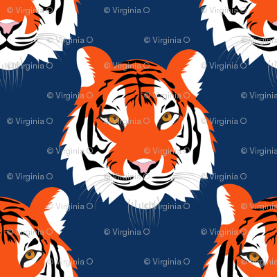 jungle tigers in auburn colors