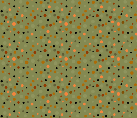 lion_and_tiger_polka_dots_8 fabric by vo_aka_virginiao on Spoonflower - custom fabric