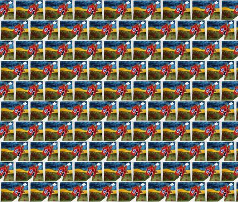 Little Red House fabric by helenklebesadel on Spoonflower - custom fabric