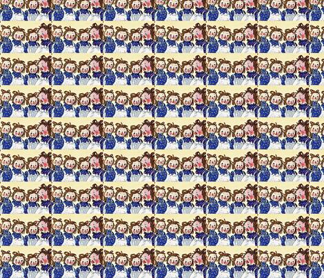 Raggedy Anns fabric by karenharveycox on Spoonflower - custom fabric