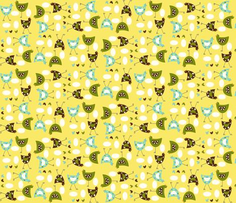 Here chickee chickee random fabric by cutiepoops on Spoonflower - custom fabric