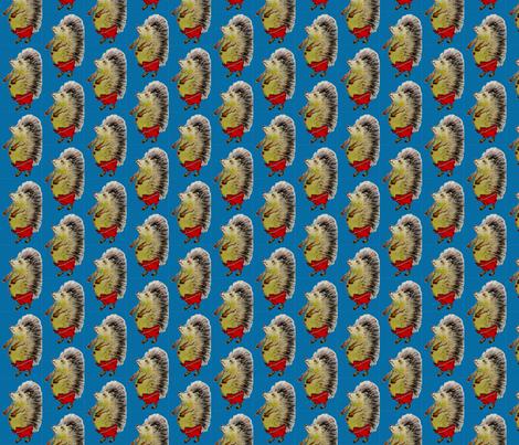 Blauer_Igel fabric by kindershop on Spoonflower - custom fabric