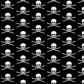 Skull and knitting needles