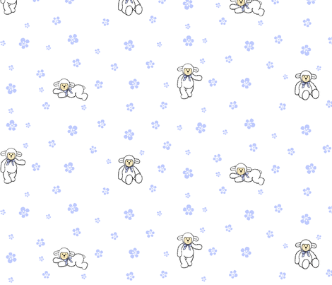 Lambie Lovey fabric by shirlene on Spoonflower - custom fabric