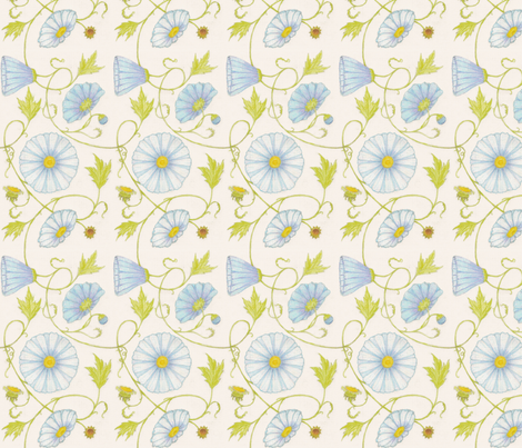 vll_fantasy_flowering_vine_2 fabric by victorialasher on Spoonflower - custom fabric