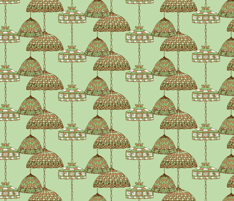 Ice Cream Social :: Mint Chocolate Chip :: Salon fabric by cottageindustrialist on Spoonflower - custom fabric