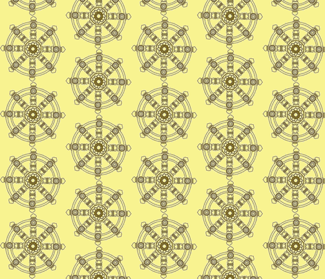 buddhist wheel  fabric by francescalyn on Spoonflower - custom fabric