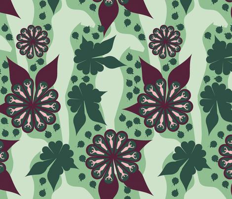 Daphne-gr-maroon-lab fabric by shanperrym on Spoonflower - custom fabric