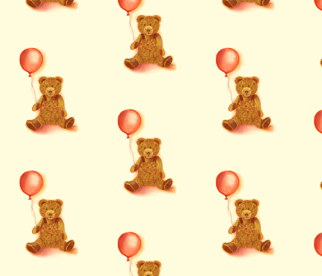Vintage Bear fabric by twobloom on Spoonflower - custom fabric