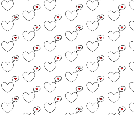 Dreaming Heart fabric by pantsmonkey on Spoonflower - custom fabric