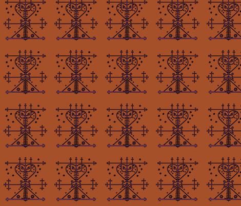 Veve of Maman Brigitte fabric by nalo_hopkinson on Spoonflower - custom fabric