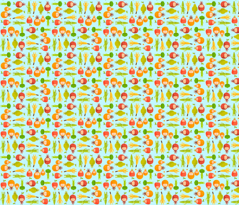 Let's eat! fabric by cutiepoops on Spoonflower - custom fabric