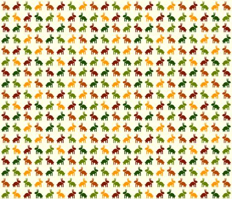Bunny fabric by matida on Spoonflower - custom fabric
