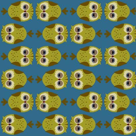 Sleeptime owls fabric by cutiepoops on Spoonflower - custom fabric