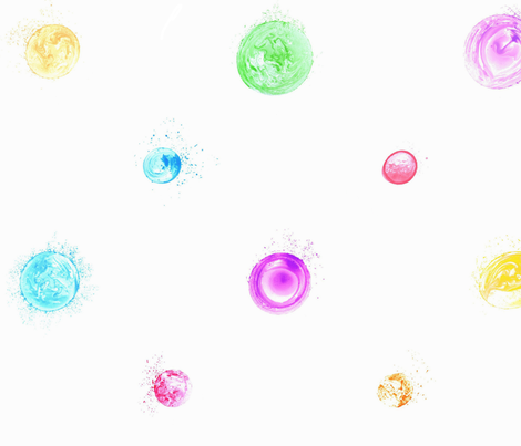 bubble polka dots on white fabric by weavingmajor on Spoonflower - custom fabric