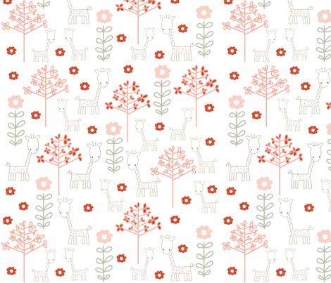 giraffes and flowers fabric by emilyb123 on Spoonflower - custom fabric