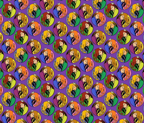 Maiden medallions fabric by hannafate on Spoonflower - custom fabric