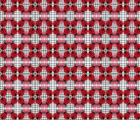ladybug picnic fabric by razberries on Spoonflower - custom fabric