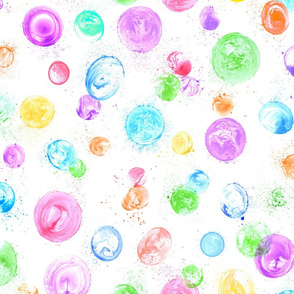 bubble chaos on white