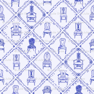 Antique Chairs Blue