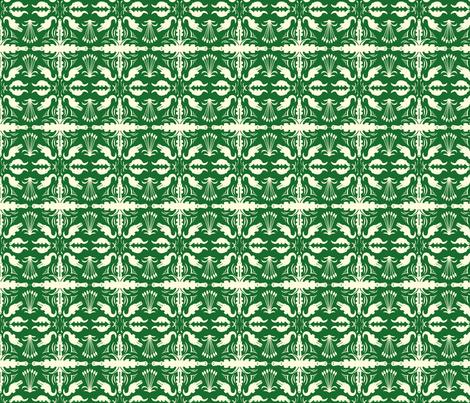 Crocodile Damask fabric by laurawilson on Spoonflower - custom fabric