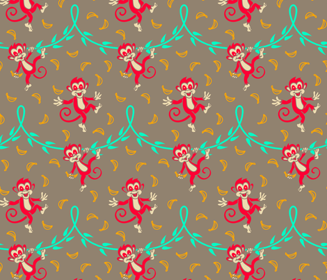 Happy_monkeys3 fabric by hissun on Spoonflower - custom fabric