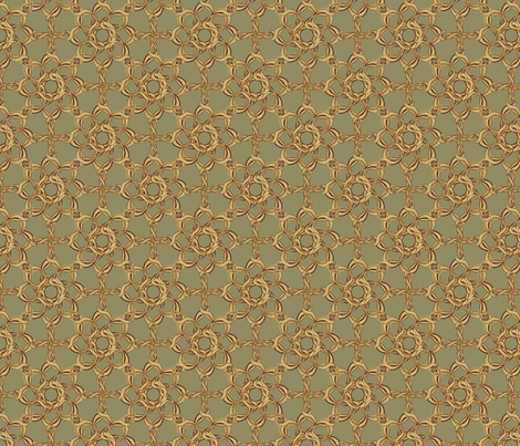 Rosettes Petite - Moss fabric by kristopherk on Spoonflower - custom fabric
