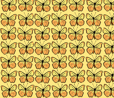 Monarch fabric by linesmith on Spoonflower - custom fabric