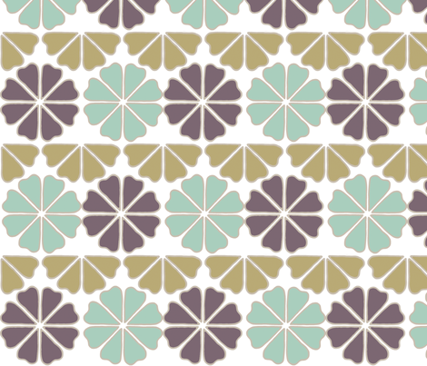 deco_flowers_grape and brown fabric by holli_zollinger on Spoonflower - custom fabric
